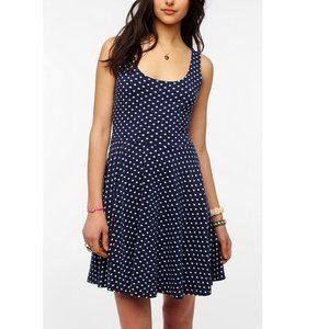 Sparkle & Fade (UO) Polka Dot Dress in Blue